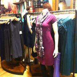 Dresses in a workout-wear store. Is that a first?