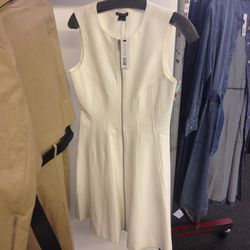 Theory white zip dress, $49 (from $260)