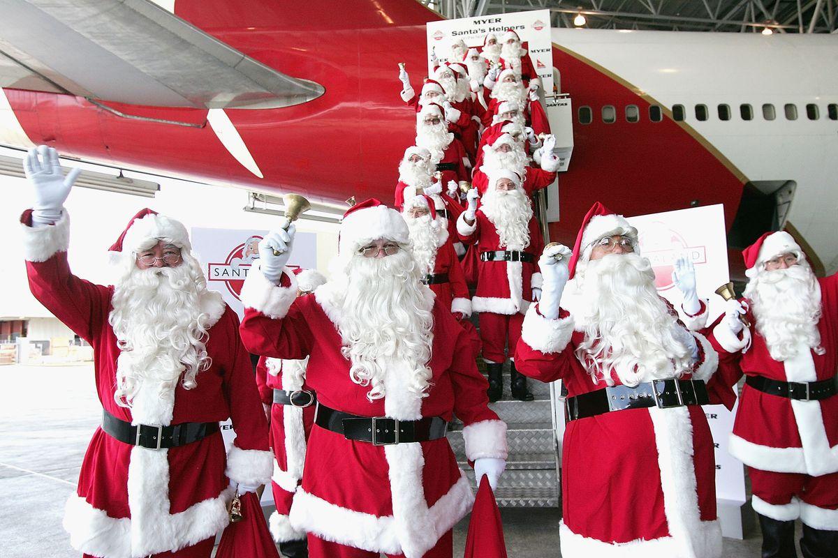 Santa's Helpers Arrive In Sydney