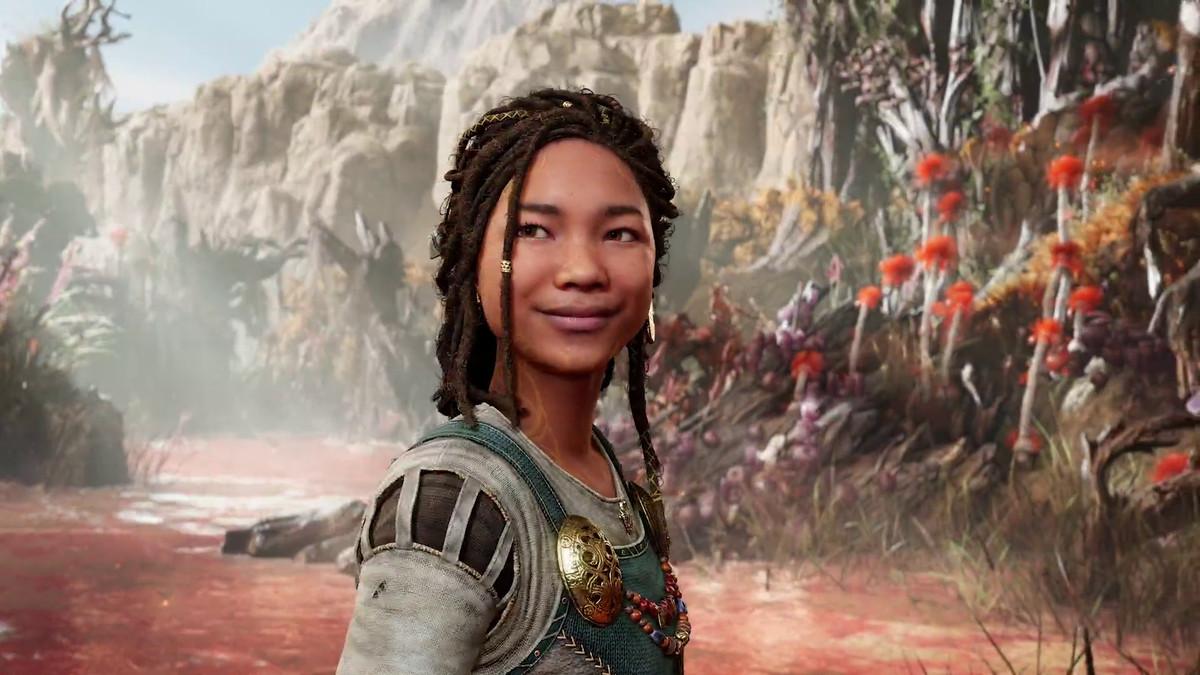 a brown-skinned teenage girl with dreadlocks in God of War Ragnarok