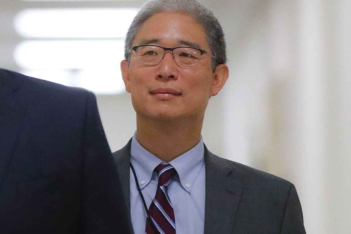 In this Aug. 28, 2018, file photo, Justice Department official Bruce Ohr arrives for a closed hearing of the House Judiciary and House Oversight committees on Capitol Hill in Washington. A former British spy told Ohr, a senior Justice Department lawyer, a