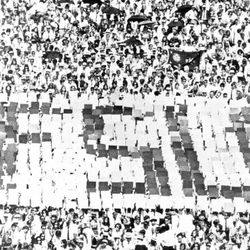 <strong>1968- Card section at Campbell Stadium</strong>