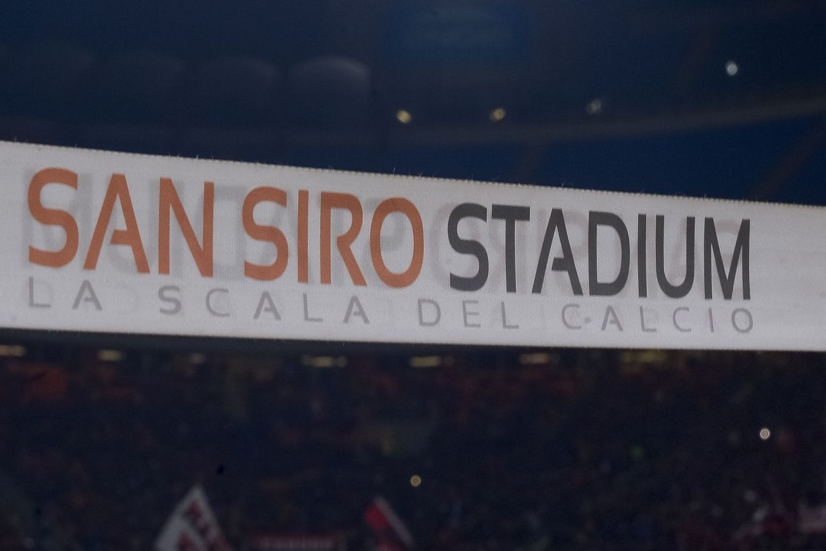 General view of San Siro Stadium prior to the Coppa Italia...