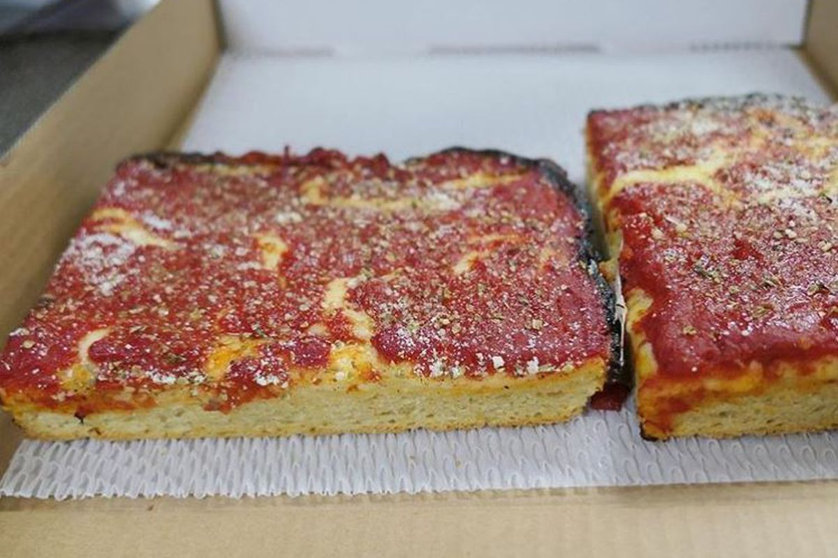 Five Dollar Fridays Sicilian Pizza Slice From Dough Box
