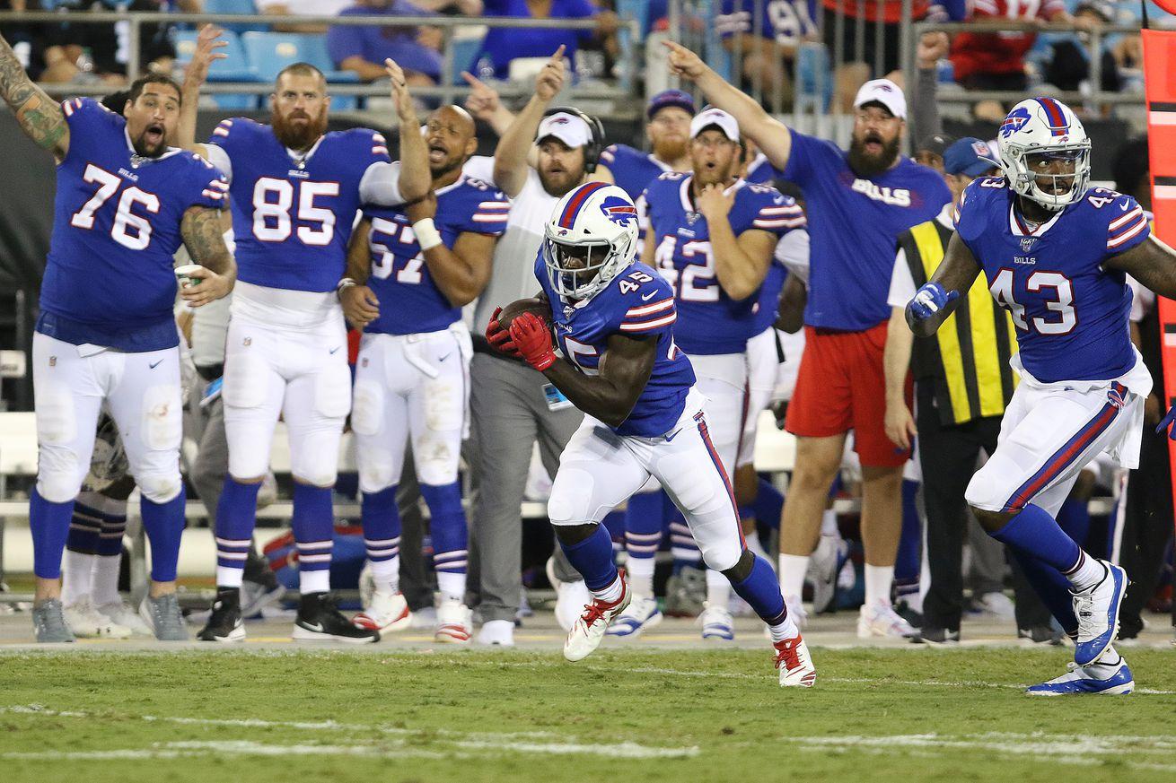 NFL: AUG 16 Preseason - Bills at Panthers