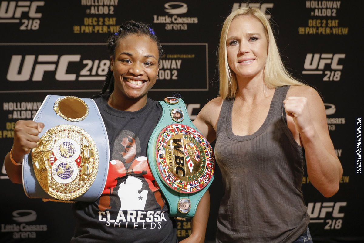 Claressa Shields and Holly Holm
