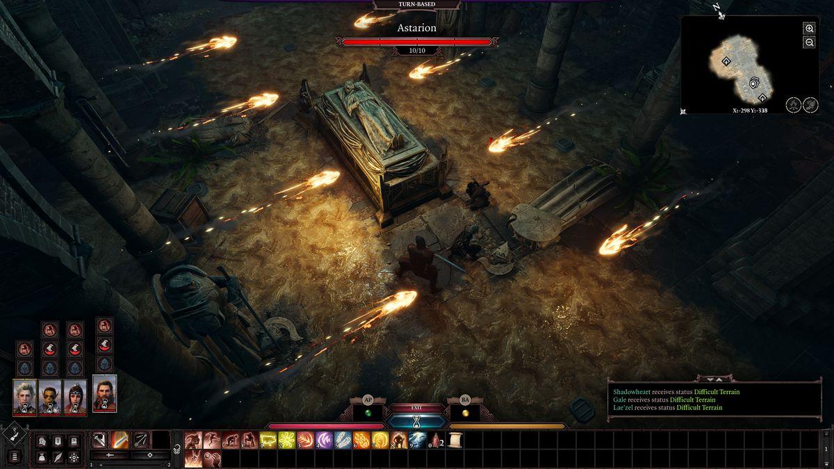 A fiery trap in Baldur's Gate 3