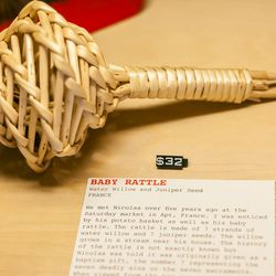 Water willow baby rattle from France, $32
