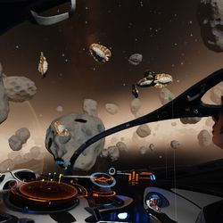 <em>Elite: Dangerous</em> now features geological and biological features on planet surfaces and in space. Rare deposits are reported to fleet organizers, who may task scouts within the fleet to double back for further study.
