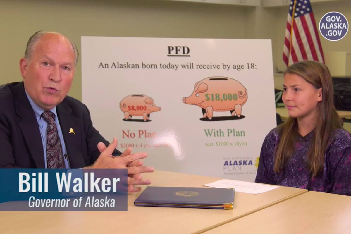Alaska Gov Bill Walker Announcing The Amount Of 2016 Permanent Fund Dividend