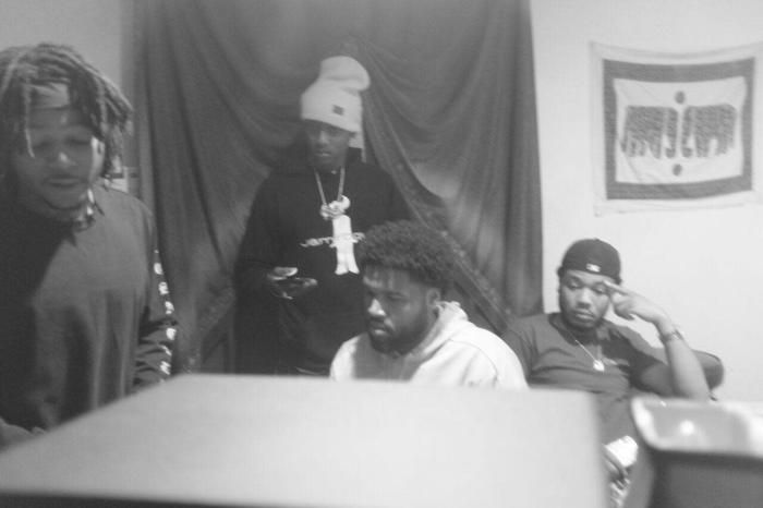 (left to right) J.I.D., Buddy (in hat), Hollywood JB, Cozz