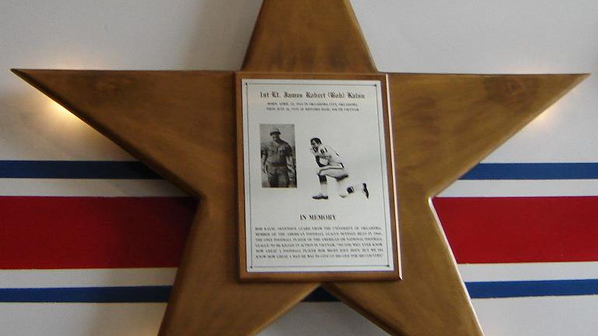 Plaque in honor of Bob Kalsu at One Bills Drive