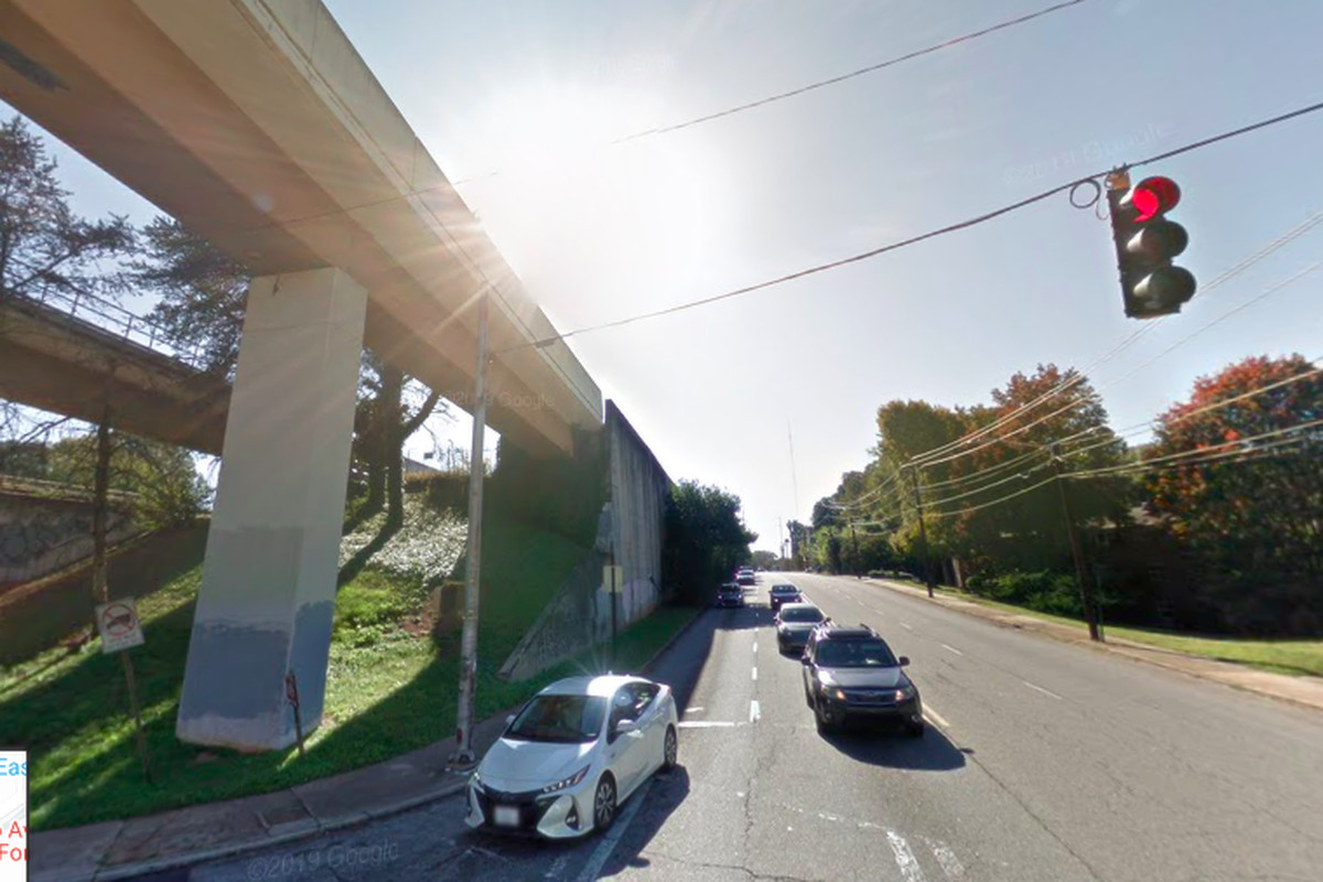 Rocky Ford Road marks the planned starting point for westbound DeKalb Avenue bicyclists participating in Friday's grassroots call for attention.