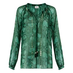 Embroidered Peasant Blouse in Green Python Print, $44.99 (Target.com Exclusive)
