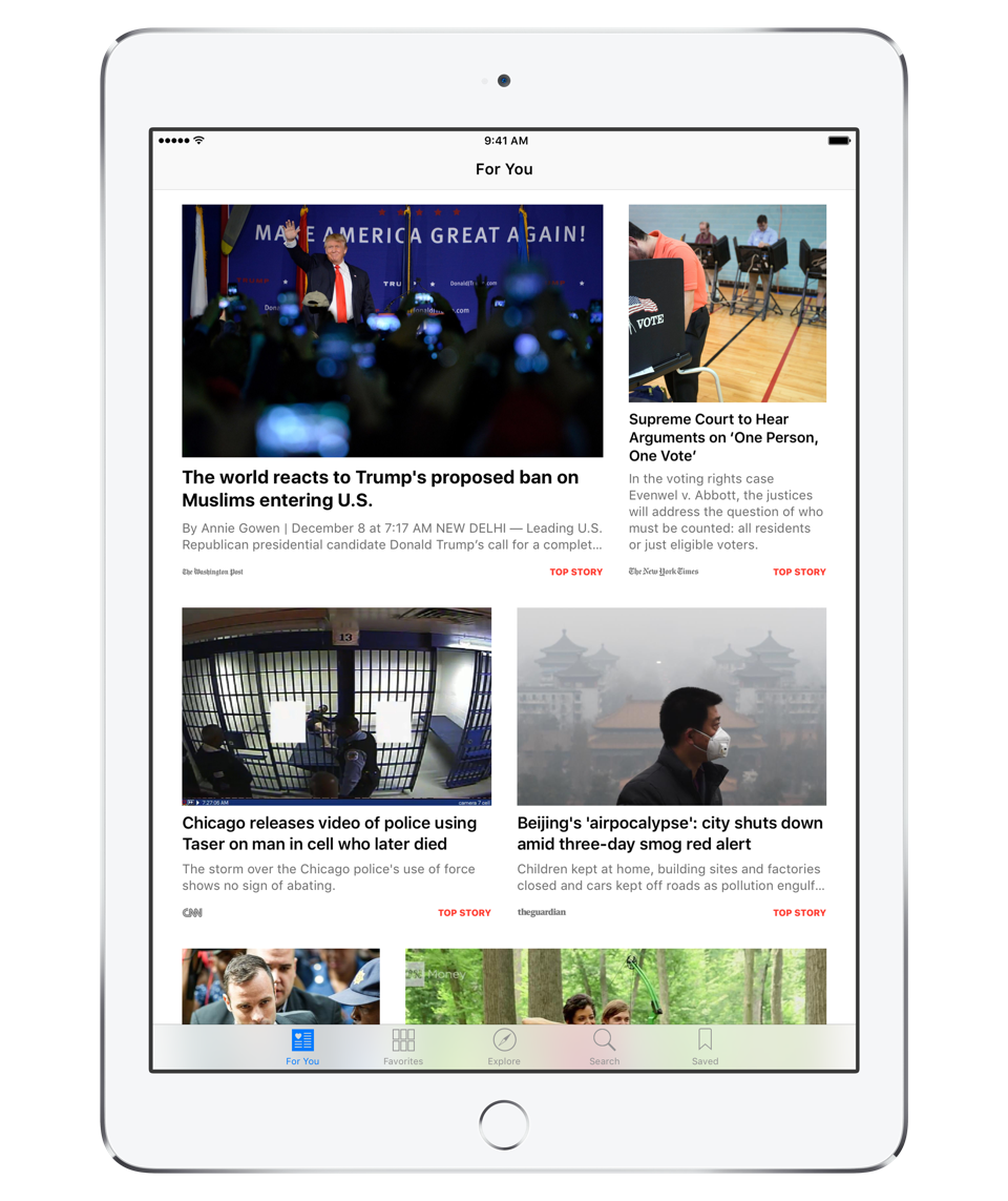 Apple Updates Its News App to Make It More Like a ... Newspaper