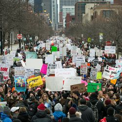 Thousands march through the streets of Chicago, calling for tighter gun control laws after a March for Our Lives rally in Union Park, Saturday, March 24, 2018. | Ashlee Rezin/Sun-Times