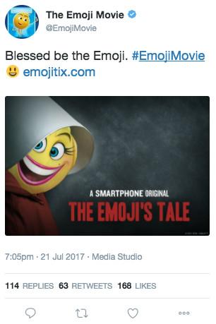 Emoji Movie tweet
