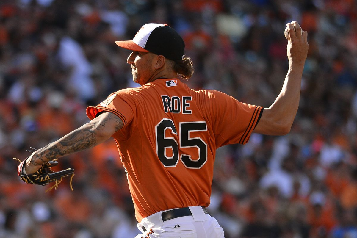 Chaz Roe is helping the Orioles address their lack of tatted-up, mulleted players.