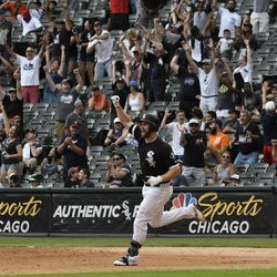 The White Sox technically play ball in Armour Square, but the team banners say Bridgeport.    David Banks/Getty Images