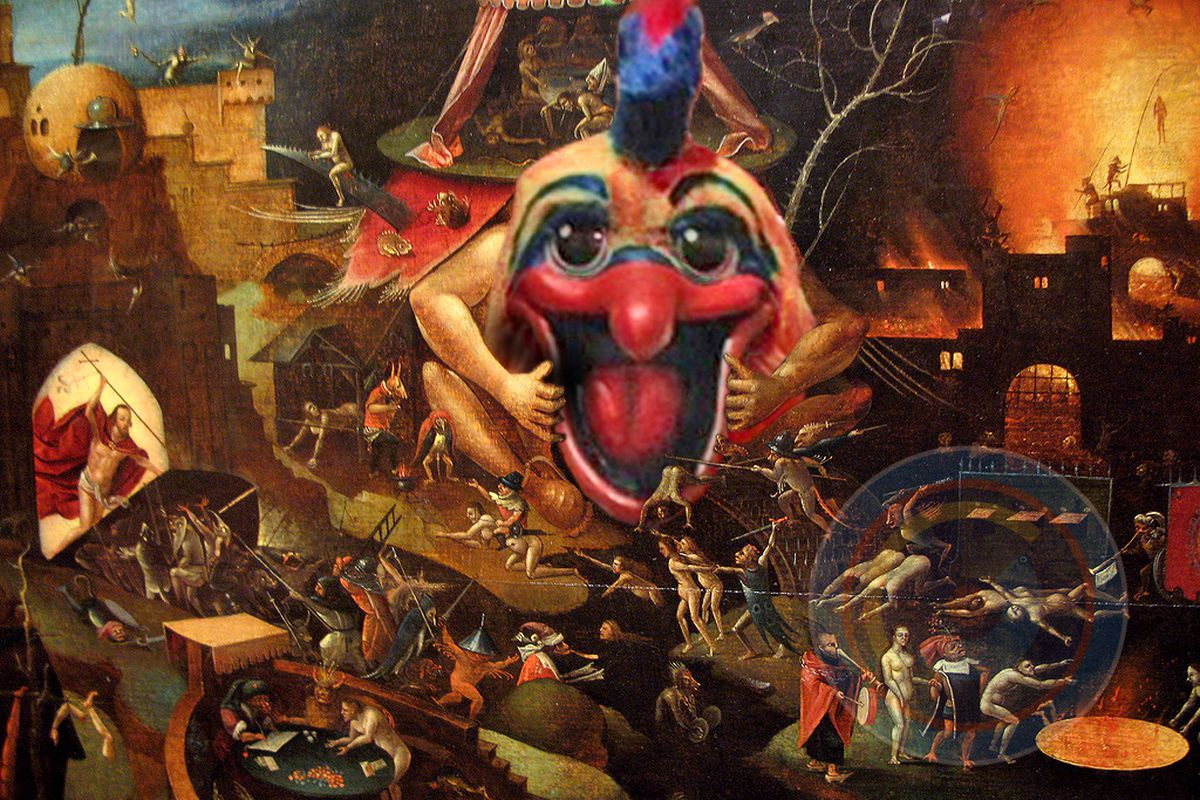 Pierre the Pelican meets Hieronymus Bosch. ONLY on WTLC!