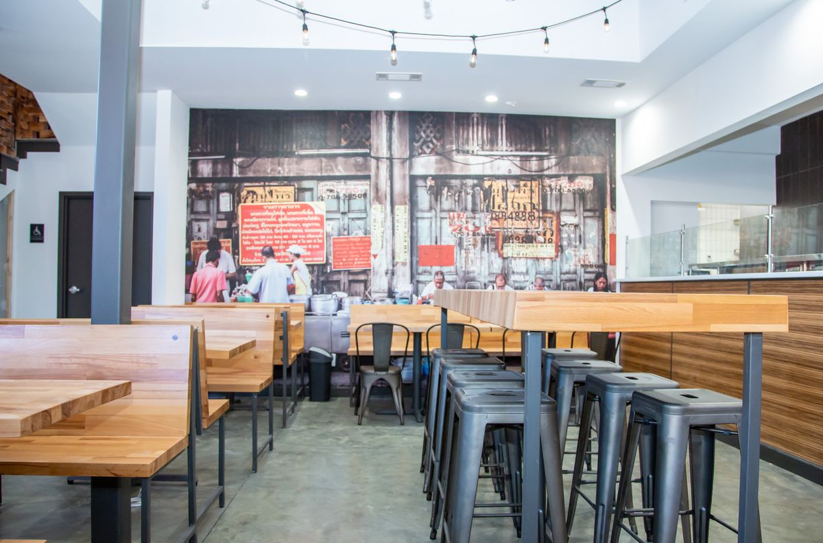 first floor of sweet octopus asian street food restaurant in duluth