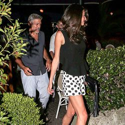 George and Amal Clooney in Lake Como