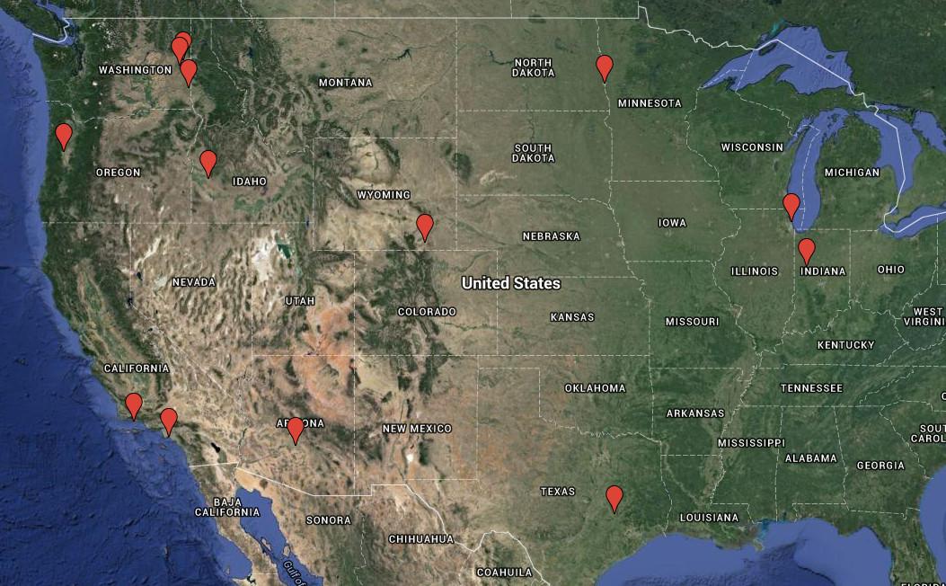 Sam's Conference Map. Sad!
