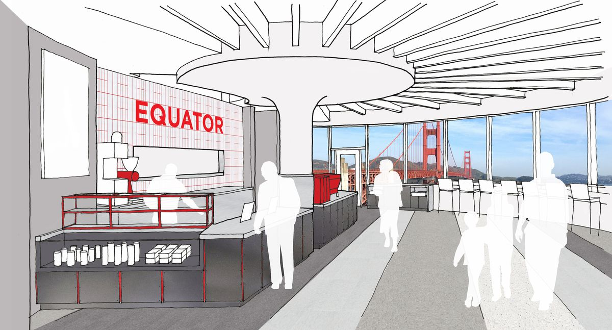 Rendering of the new interior at Round House Cafe