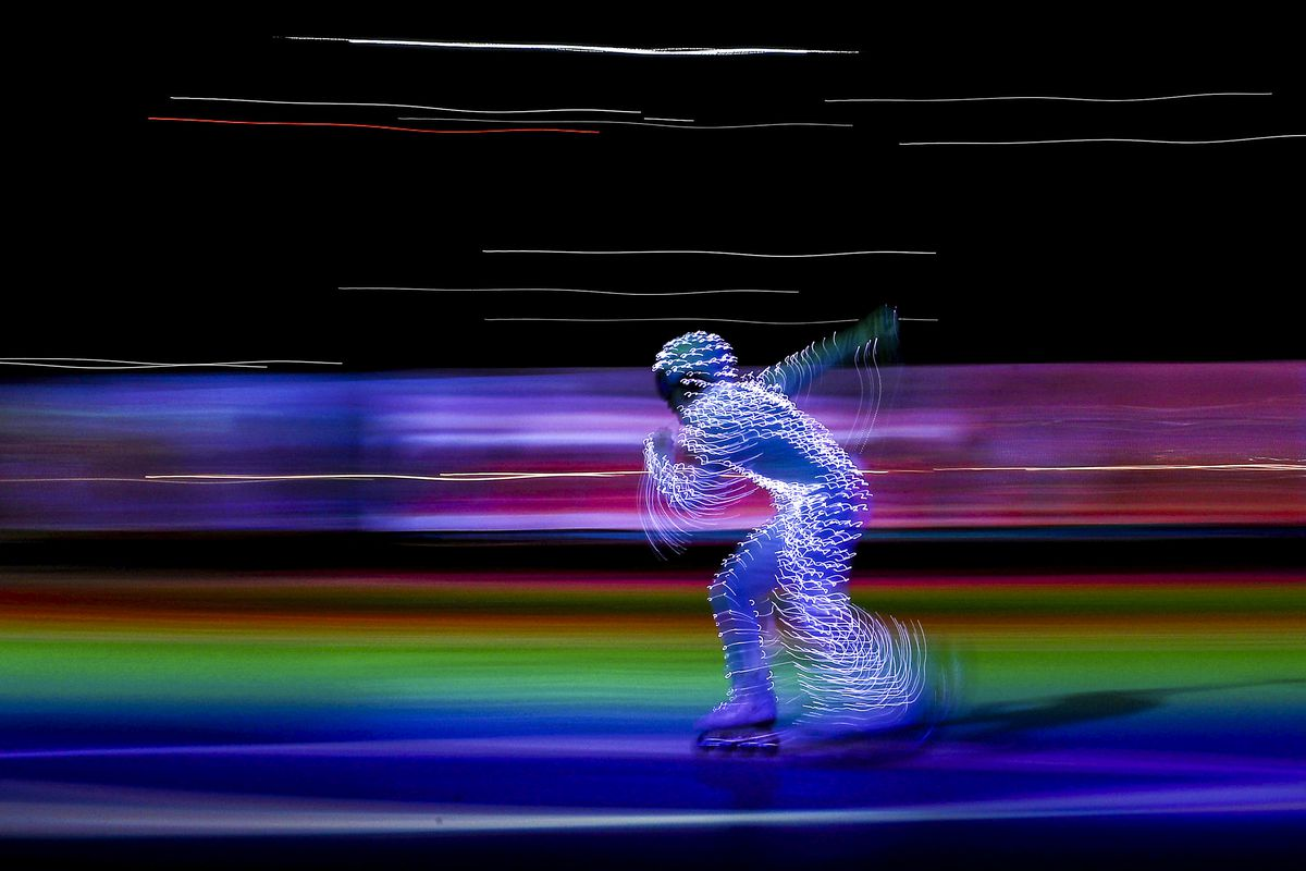 February 25: Entertainers perform during the Closing Ceremony of the PyeongChang 2018 Winter Olympic Games in South Korea. (Maddie Meyer/Getty Images)