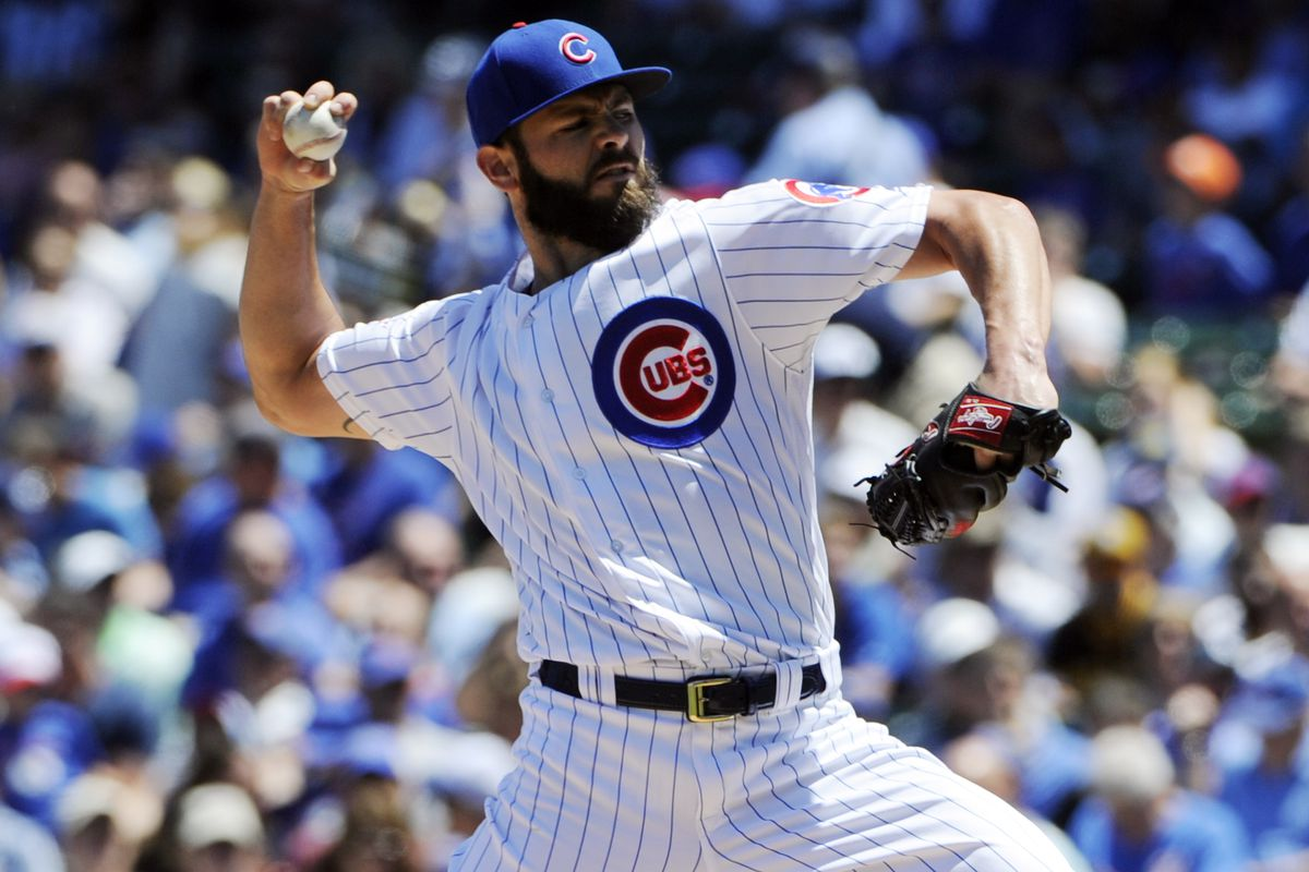 Well, it's been five games, so it's time for another Jake Arrieta photo.