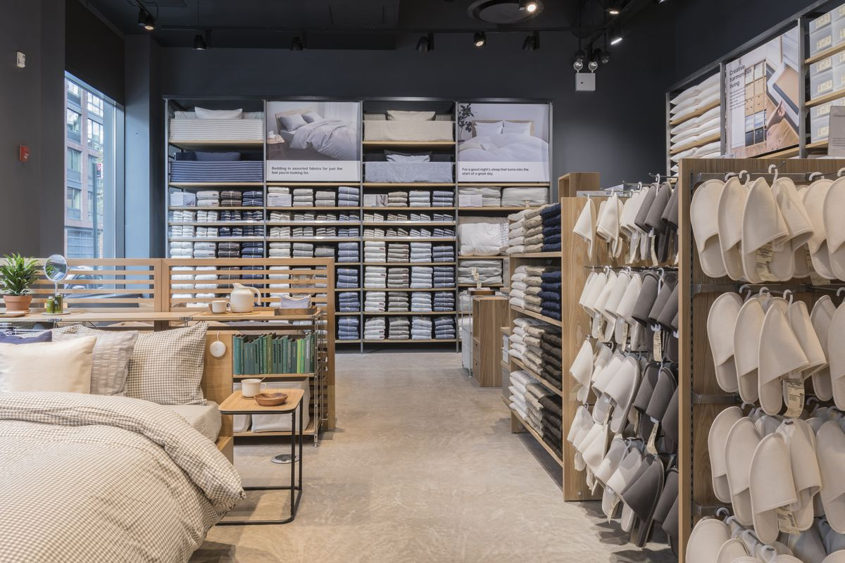 The new US flagship store offers customized scents and embroidery on-site  among their affordable Japanese-designed basics