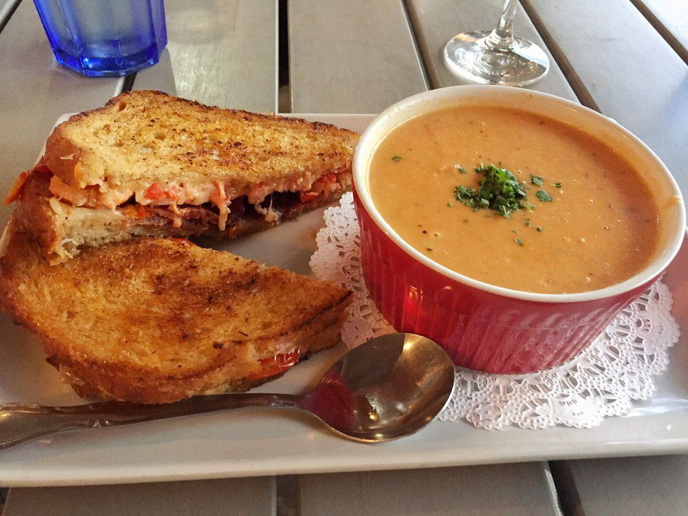 Lobster grilled cheese sandwich from Garbo's