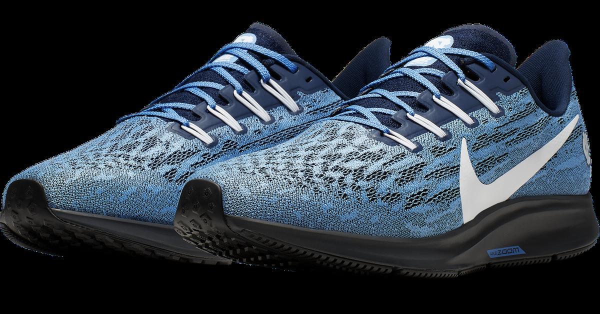 Nike drops the new Air Zoom Pegasus 36 UNC shoe! - Tar ... North Carolina Football Shoes