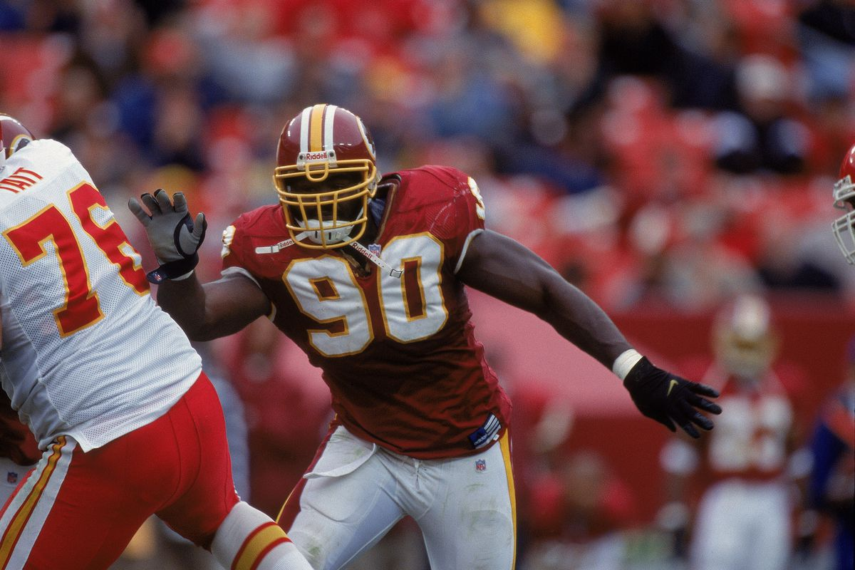 online store 9f57f 17d43 Redskins By The (Jersey) Numbers: #90 Kenard Lang - Hogs Haven