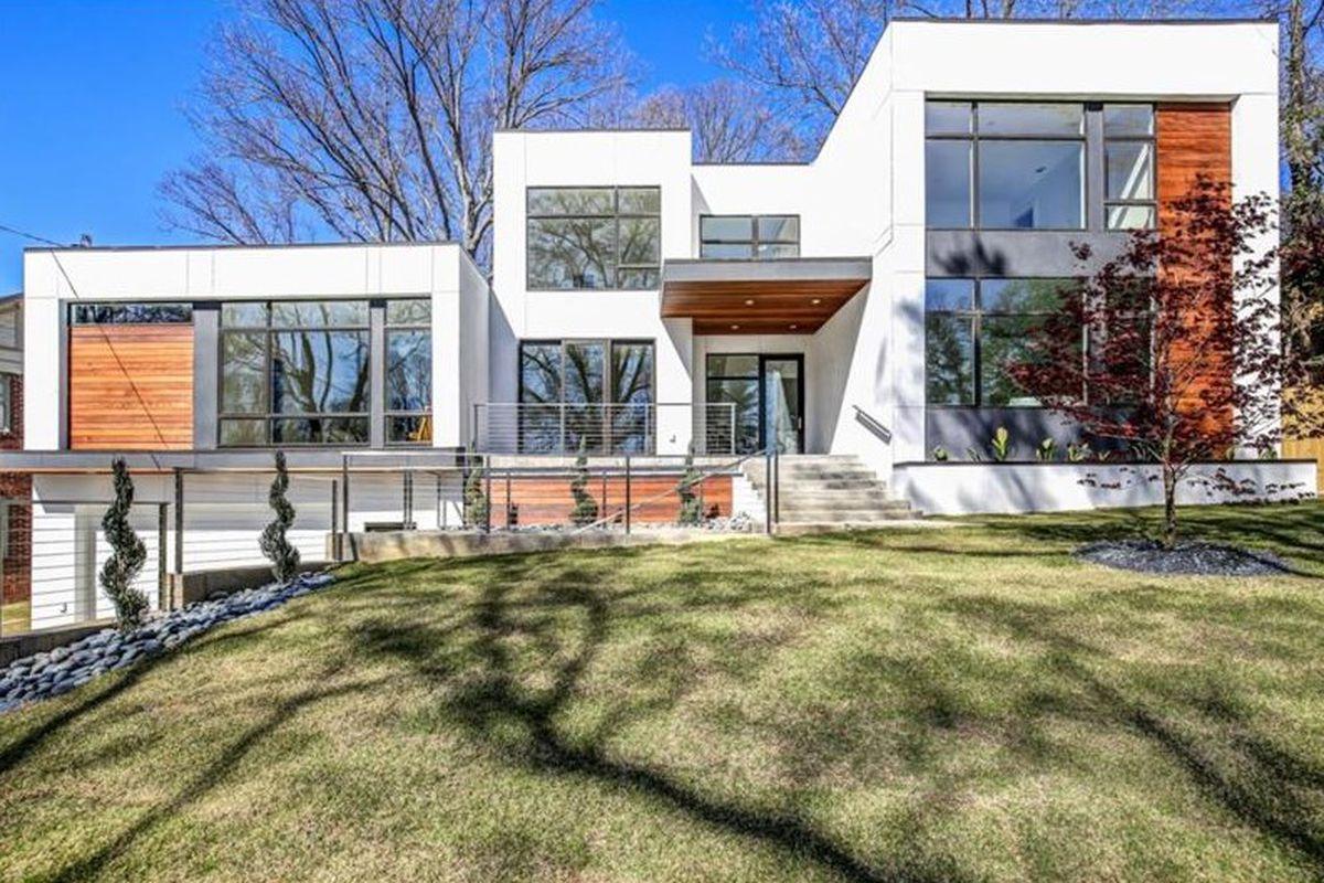 A large new modern home in Atlanta's Morningside neighborhood.