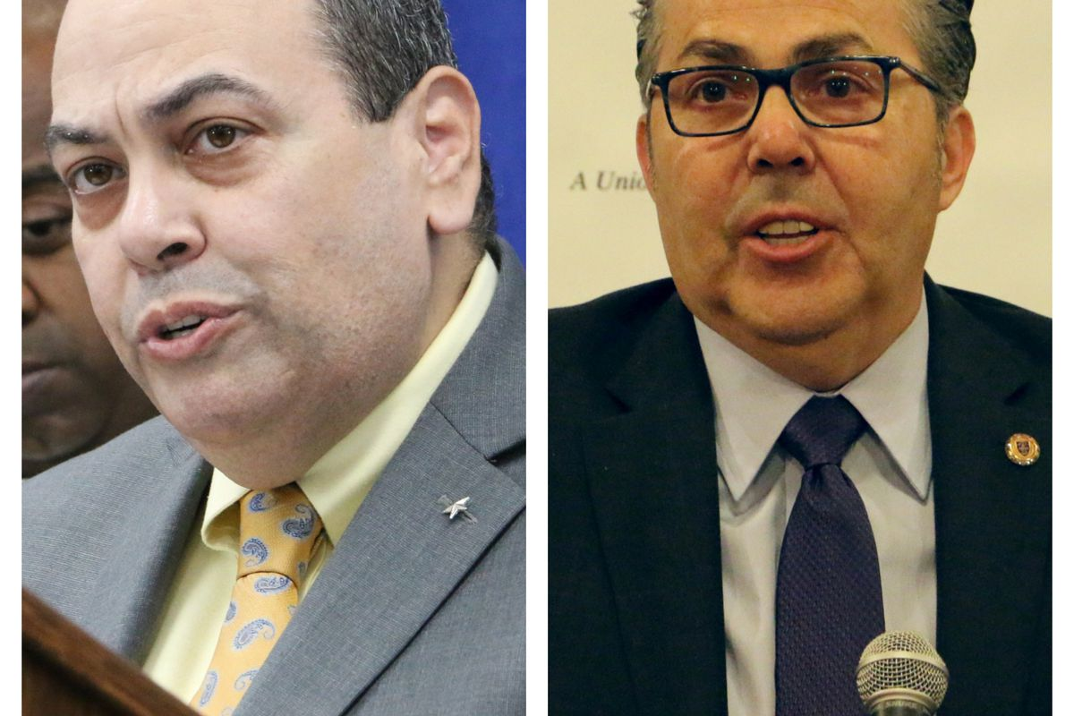Teacher raises and merit pay are written into the current contract, which expires this month. Superintendent Roger León and Newark Teachers Union President John Abeigon are negotiating a new contract.
