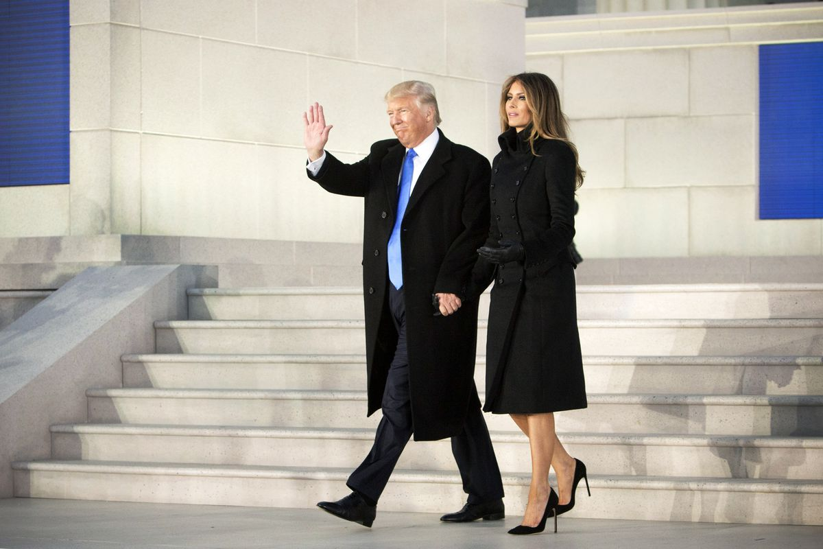 President-elect Donald Trump and first lady-elect Melania Trump at the Lincoln Memorial.