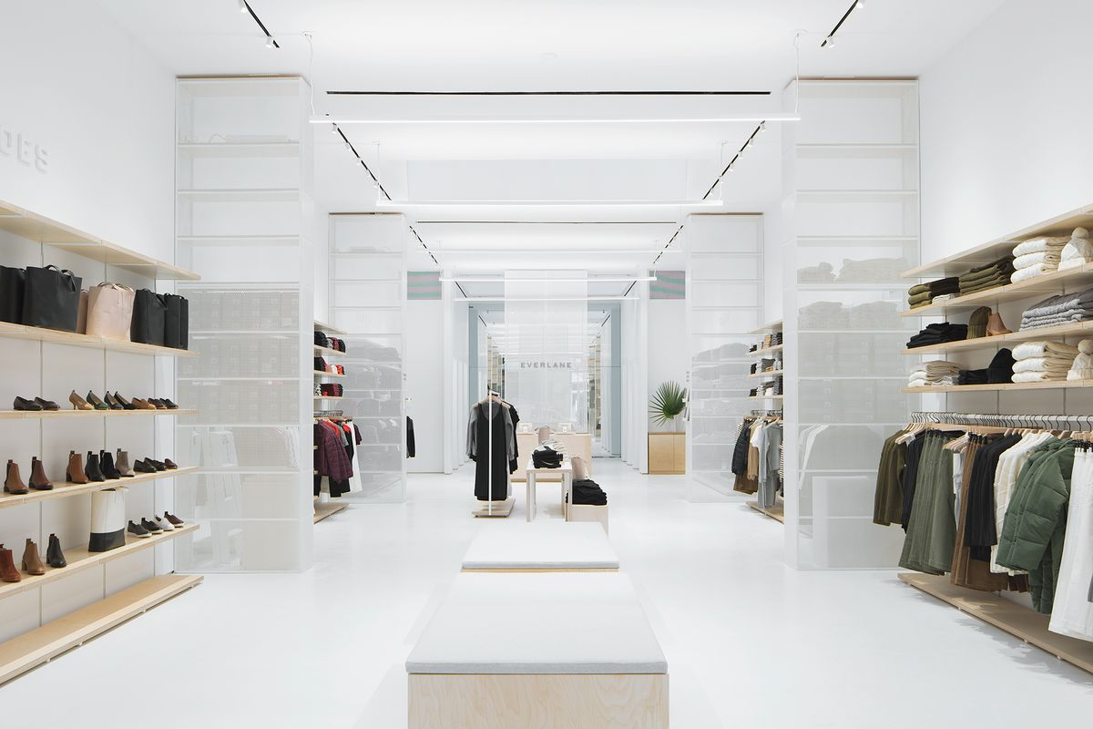 The interior of Everlane's first flagship store in New York City