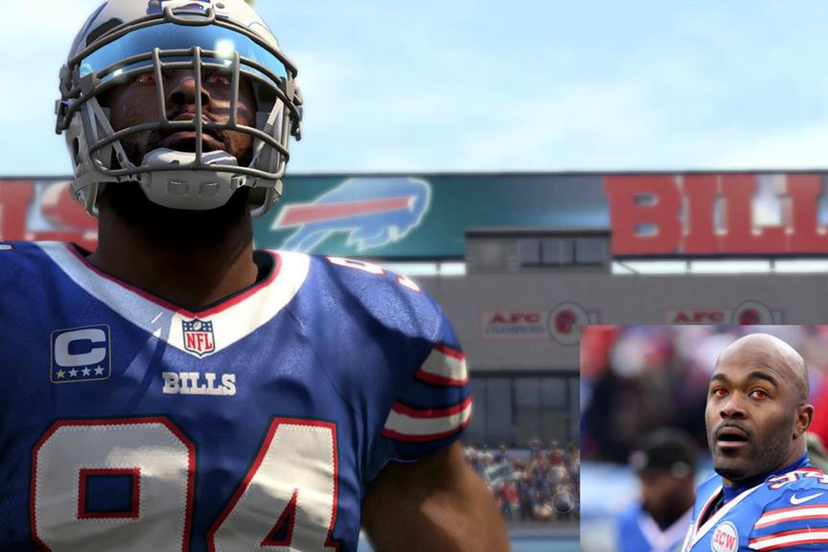 NFL players with red eye contact lenses? It's in the game. Polygon