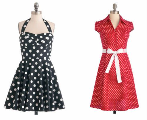 f7fd7a4347 Two looks from Modcloth s plus-size line  Traveling Cupcake Truck Dress in  Black (left) and Hepcat Dress in Cherry (right)