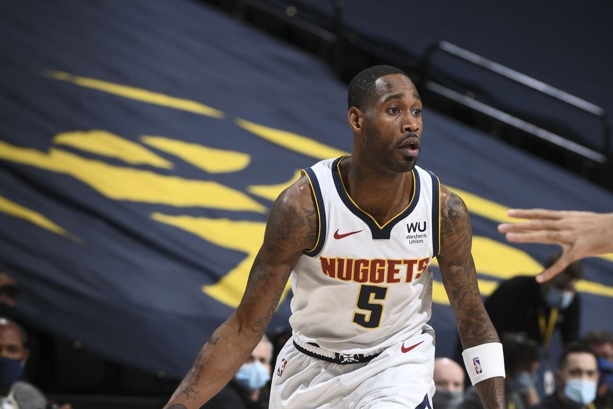 Will Barton of the Denver Nuggets dribbles during the game against the Utah Jazz on January 31, 2021 at the Ball Arena in Denver, Colorado.