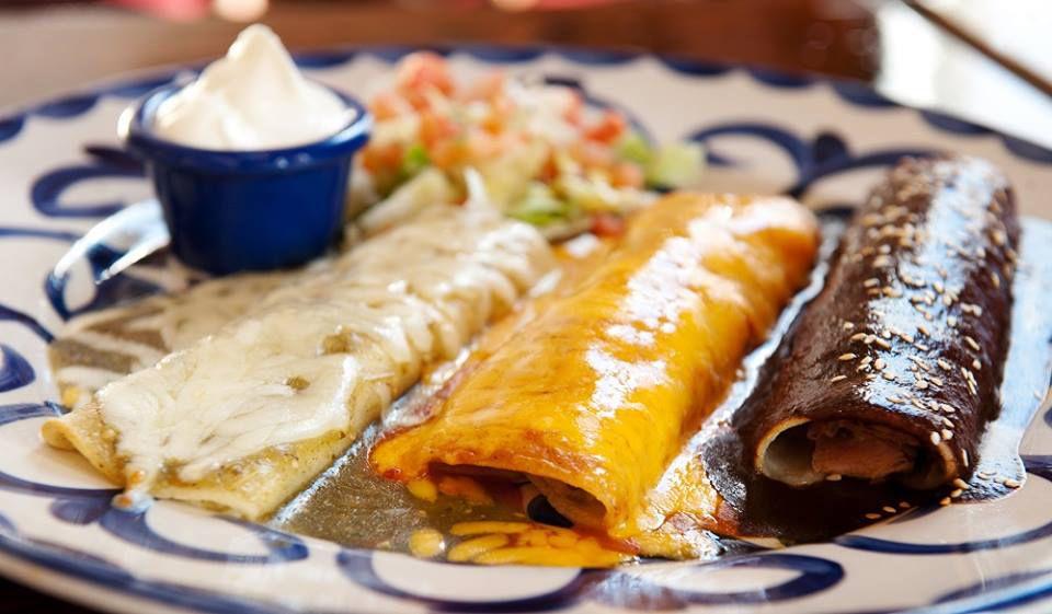 Food at Casa Blanca, the older sibling to Pancho's Cantina