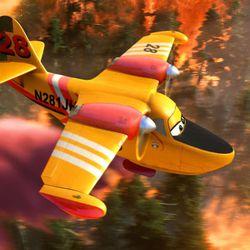 "Dipper helps battle a massive wildfire in Disney's ""Planes: Fire & Rescue."""