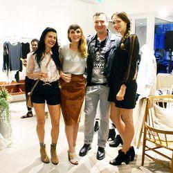 "Stylist Cassandra Parigian, <a href=""http://www.jsouthernstudio.com/"">J. Southern Studio</a> designer Jesse Southern, Racked LA reader Vlad Galyuz and stylist/co-host Sara Paulsen."
