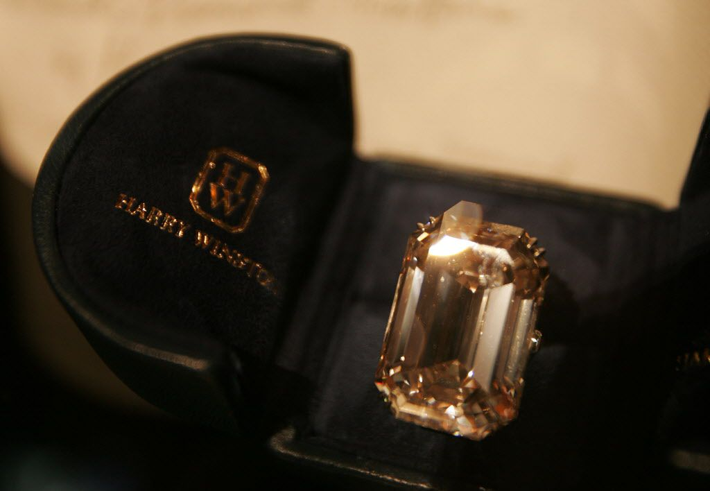 The Lesotho One, one of the world's largest diamonds, lies in a case at The Wedding Salon bridal show April 26, 2005, in New York City. | Getty Images