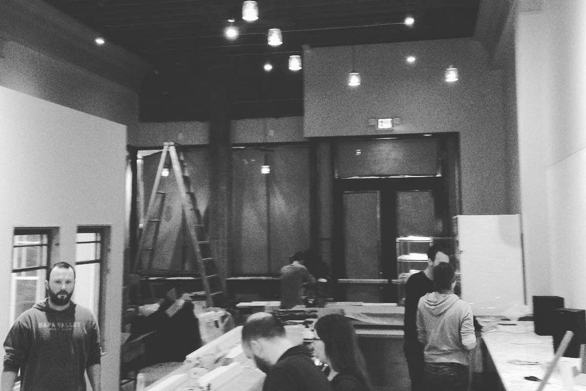 The new space under construction.