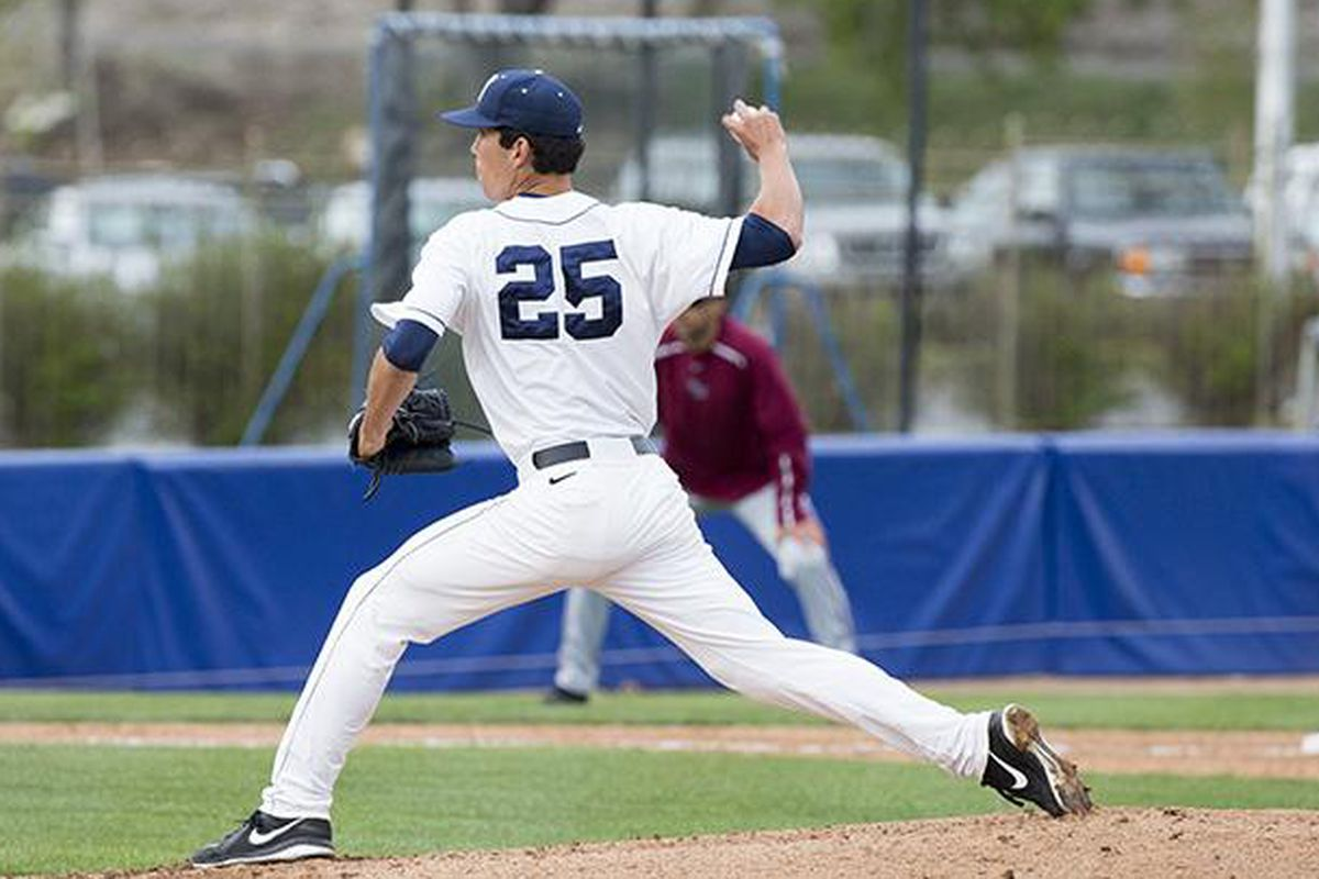 Jeff Barker pitched eight innings in a win over LMU