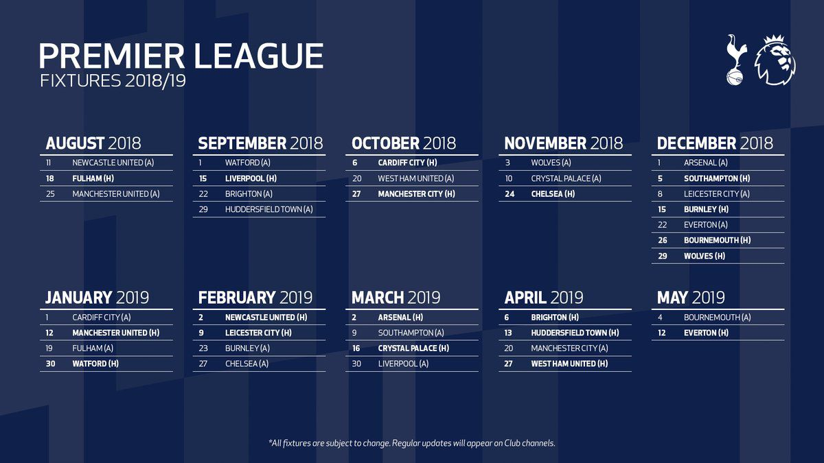 tottenham to open premier league season at newcastle, will play