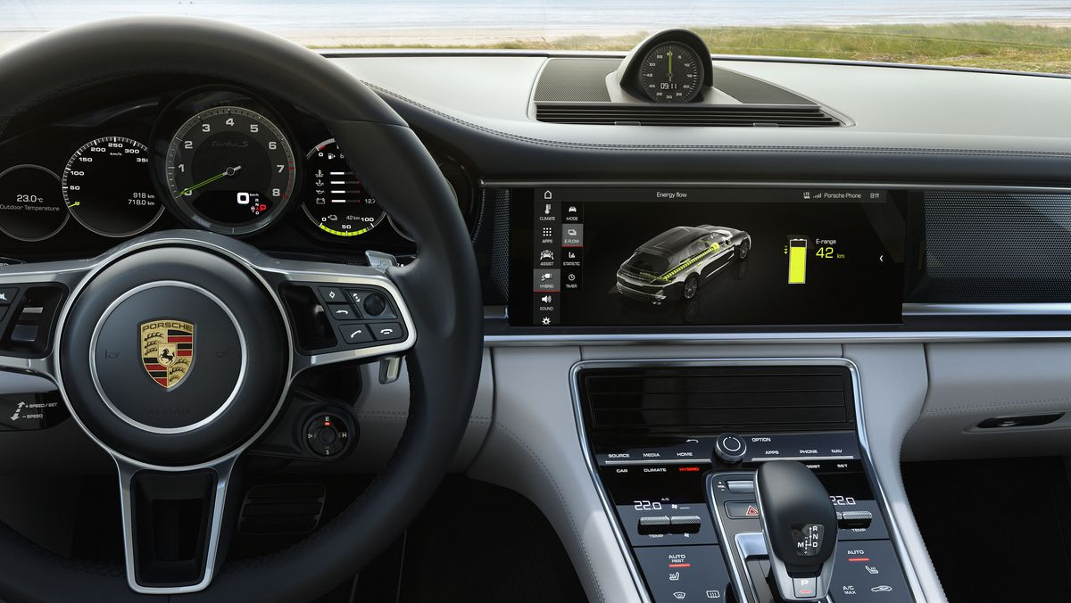 The Interior Of Panamera Is A Nice Place Too It Has Space For Four Five Crowd And An Interesting Array Touchscreens Touch Capacitive