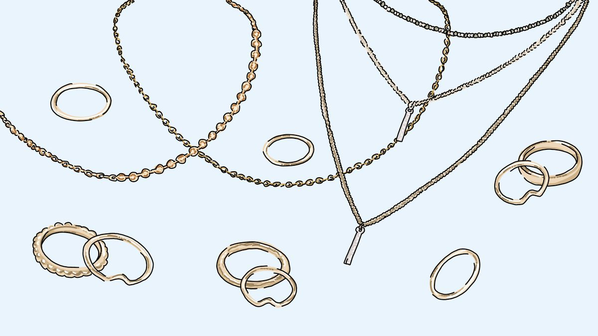 Illustration of Forever 21-style jewelry.